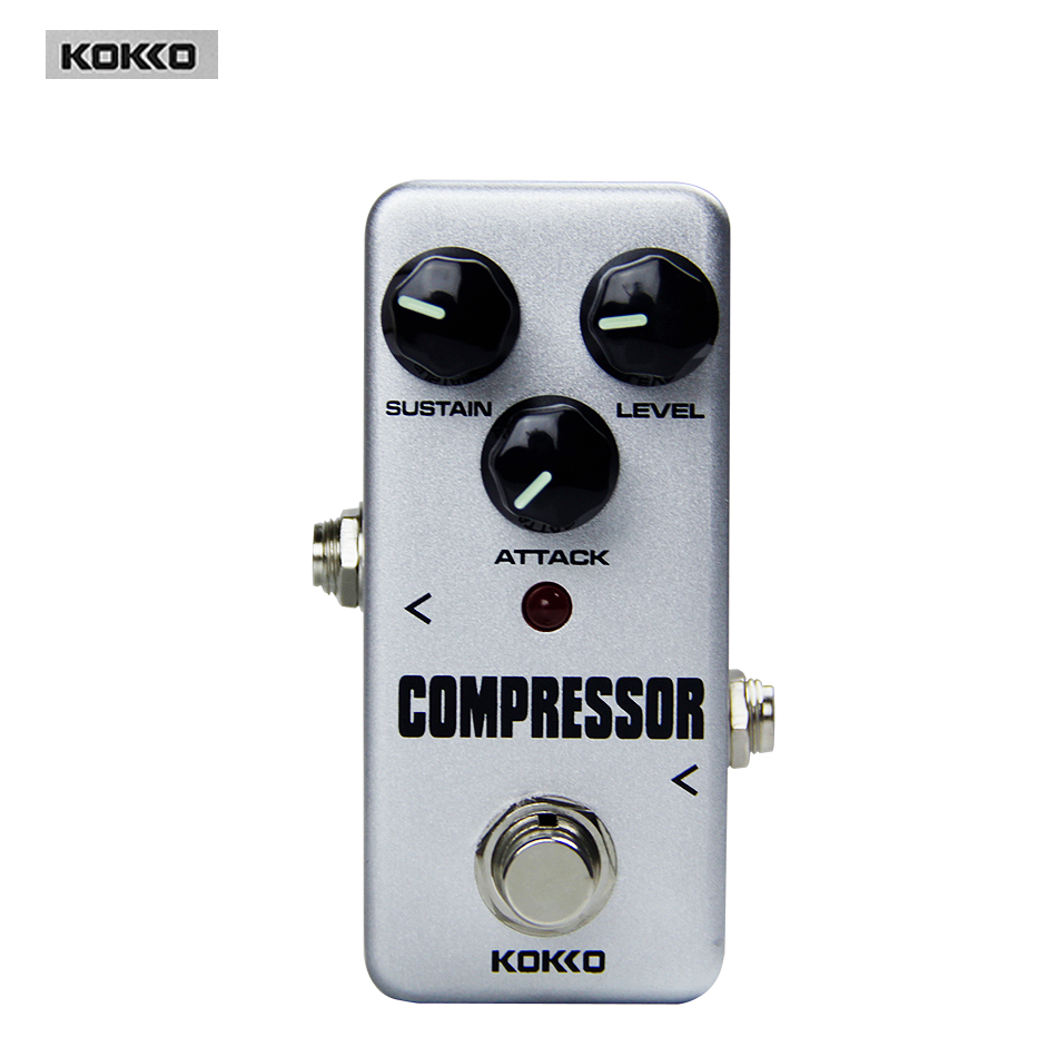 Guitar Parts & Accessories KOKKO FCP2 Mini Compressor Pedal Portable pedal  True bypass Guitar effect pedal kokko frb2 mini space pedal portable guitar effect external ac adapter delivering 9v dc regulated guitar parts