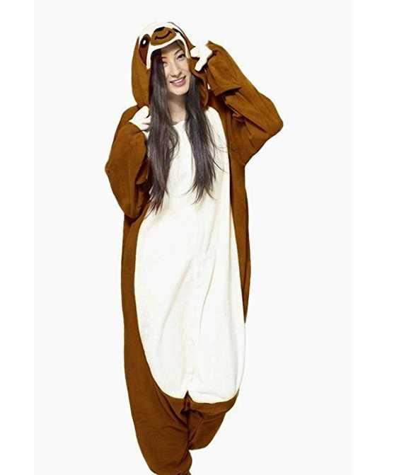 Кигуруми взрослых Ленивец комбинезоны пижамы костюм косплэй животных  Sleepsuit комбинезоны для женщин вечерние карнавал 37ad194c69c06