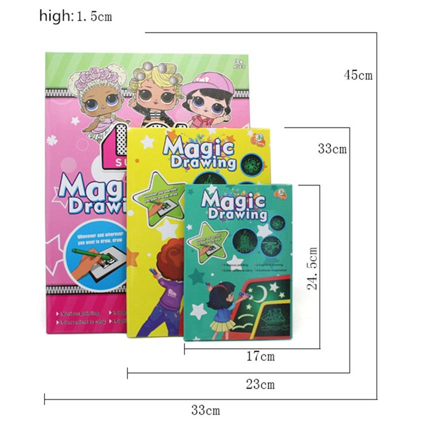 1pc LED A3 A4 A5 tabelë shkëlqyese vizatimi grafiti doodle vizatim - Të mësuarit dhe arsimimi - Foto 4