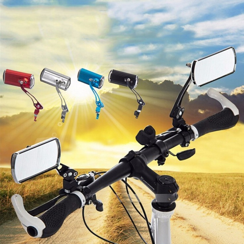 Bike Mirror Mountain Bicycle Rearview Handlebar End Rear Back View 360°Rotation