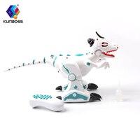 2018 High tech wireless remote control robot dinosaur interactive remote control robot toy singing dancing spraying