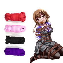 5/10M/20M Sex Slave Bondage Rope Soft Cotton Knitted BDSM Restraint Belt Toys For Couple Women Man Exotic Roleplay