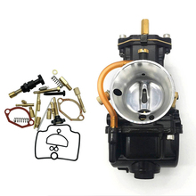 28mm Flat Slide Carburetor with Repair Kit for PWK Scooter KTM ATV 2 Stroke Cycle 80cc 100cc 125cc 250cc 350cc