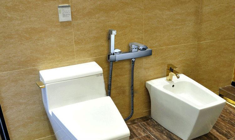 Toilet Met Douche : Aodeyi brass toilet handheld bidet spray shattaf hot cold mixer