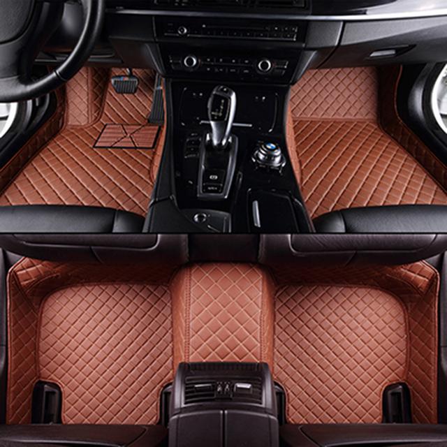 Custom car floor mats for Volkswagen All Models vw passat b5 6 polo golf tiguan jetta touran touareg car styling auto floor mat