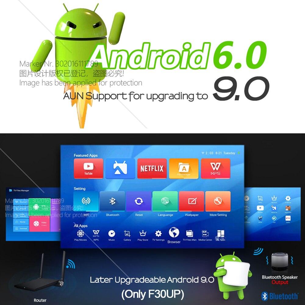 AUN projecteur Full HD F30UP, 1920x1080 P. Android 6.0 (2G + 16G) WIFI, MINI projecteur LED pour Home Cinema, Support vidéo 4K - 2