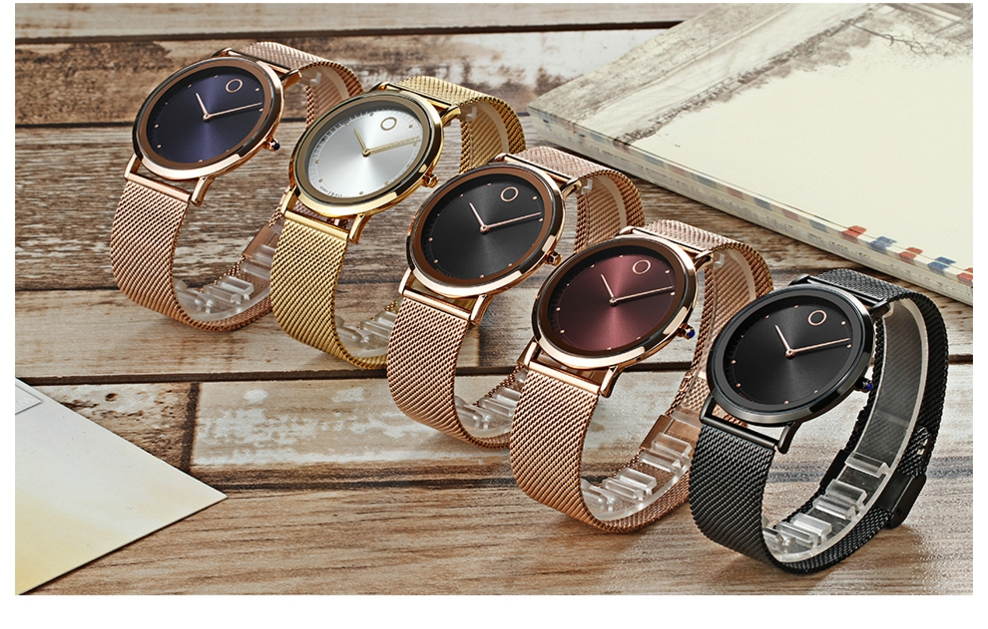 IBSO Fashion Simple Style Ultra Thin Bracelet Watches 18