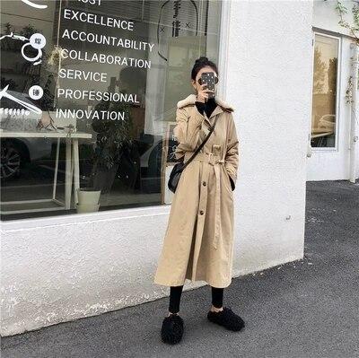 Nuovo Vento Di Tratto Pelliccia Del Lungo 1 Giacca Strumento Collo Allentato A Ispessimento Inverno Femminile Cappotto Cotone dwqICd