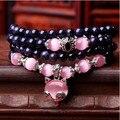 2015 новый стиль Натуральный голубой кристалл браслет розовый кварц песок лиса опал браслет оптовой продажи ювелирных изделий женщины свадебное платье подарок s364