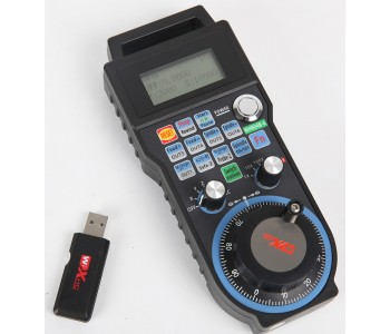 Industrial remote control 4 axis USB CNC handle MACH3 wireless electronic hand wheel MPG handheld unit