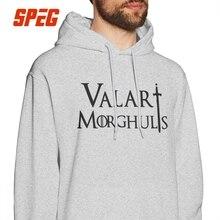 Game Of Thrones Hoodie Shirt Valar Morghulis Arya Stark Hoodies Man Funny Pure Cotton Winter Autumn Hooded Sweatshirt цена и фото