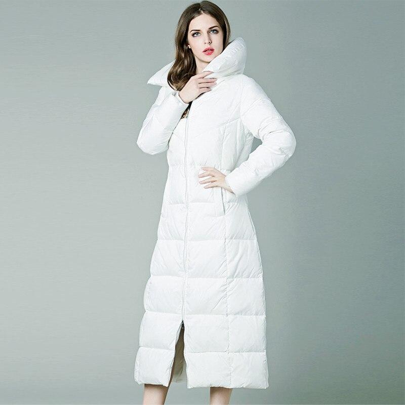Veste Plus Moyen La Manteau Parka D'hiver Longueur Femmes Taille Longue Manteaux Black Femme Doudoune Épais 4qRWXw