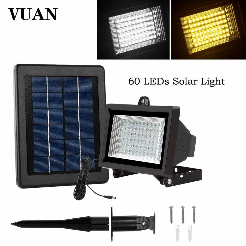 60 HA CONDOTTO LA Luce Solare Outdoor Security Proiettore 300 Lumen Intemperie Auto-induzione Luce di Inondazione Solare per Giardino Prato