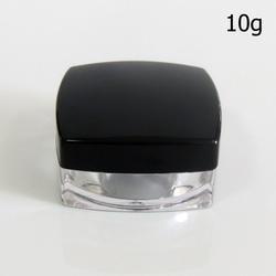50 шт./лот 10 г 10 мл акрил банку с чистой черный Кепки пустые косметические контейнеры образцов баночки для крема косметические упаковка