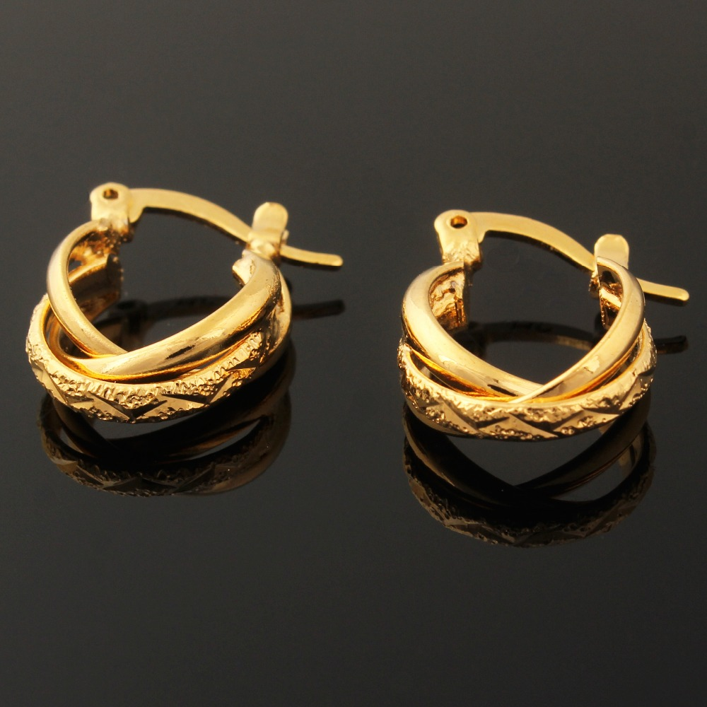 New Arrival Gold Hoop Earrings for Women / Gold Color Party Jewelry Drop Style Earring gold earrings for women
