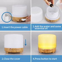 200ML USB Aroma Essential Oil Diffuser Ultrasonic Cool Mist Humidifier Air Purifier Strong Fog LED Night light for Office Home