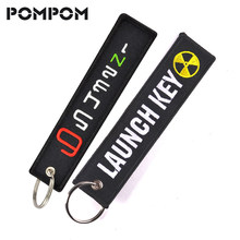 POMPOM Fashion Launch Keychain for Motorcycles Cool Motorbiker Key Tag 65432N1 Key Fob for ATV Cars Truck Key chains Chaveiro(China)