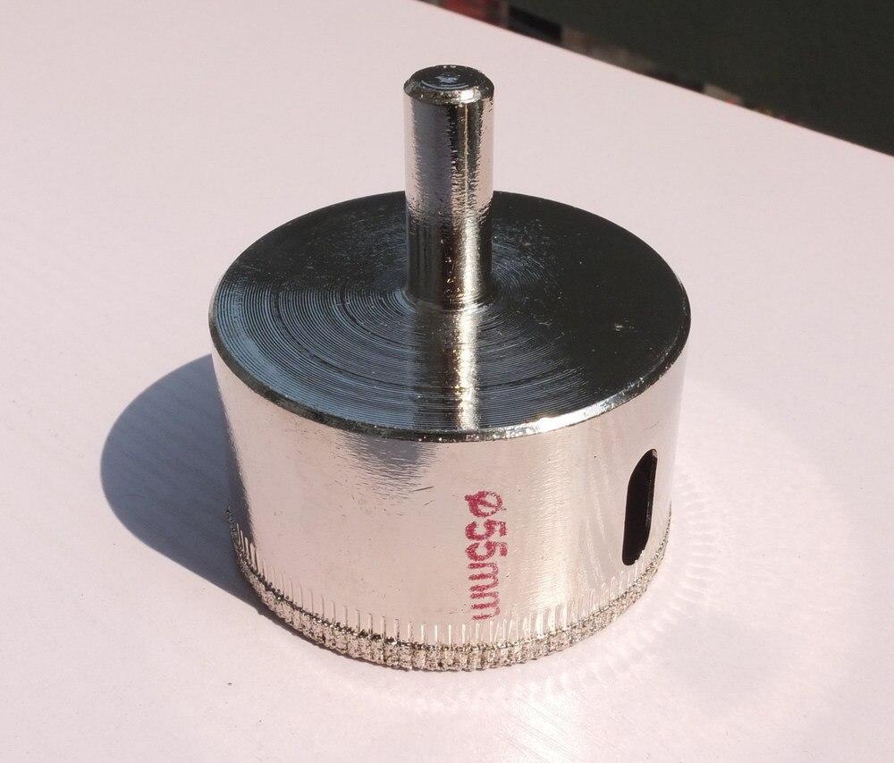 цена на 55mm Diameter Diamond Coating Tip Glass Tile Hole Saw