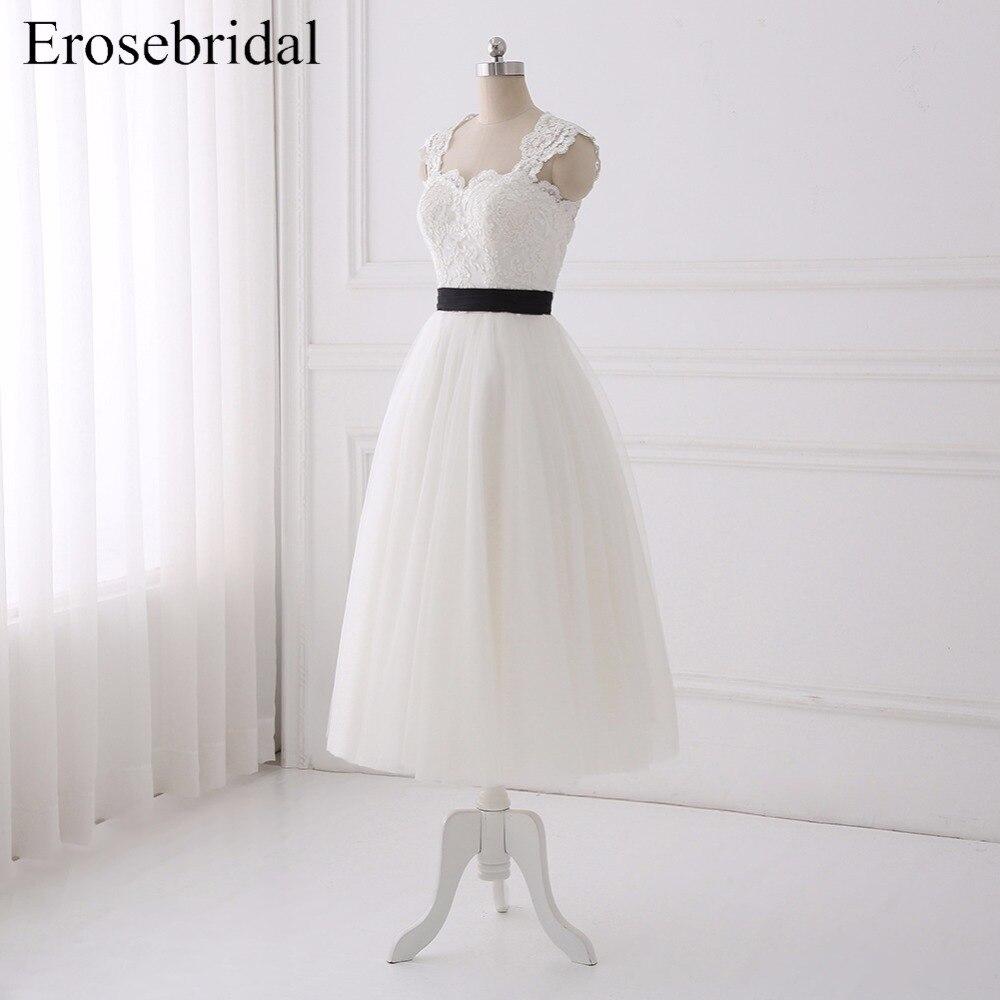 Simple Bohemian Wedding Dresses Erosebridal 2018 Wedding Dress Chiffon Bridal Gown Elegant Zipper Back Vestido De Noiva in Wedding Dresses from Weddings Events