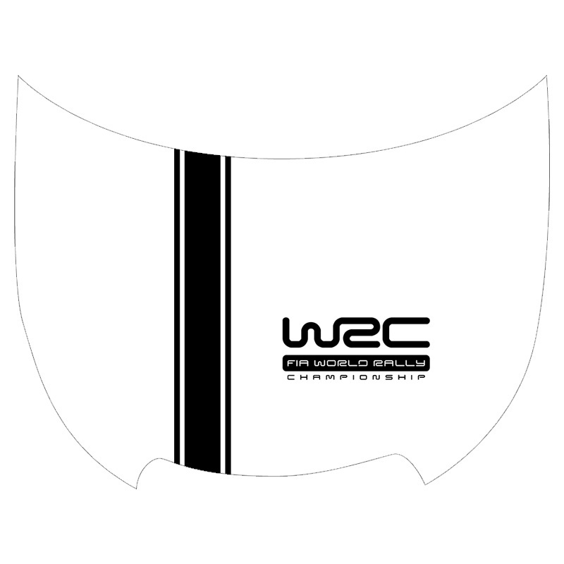 Customization WRC Stripe Car Covers Vinyl Racing Sports Decal Head car sticker for ford focus VW cruze renault accessories
