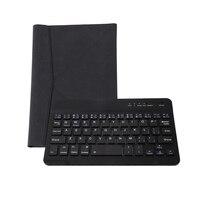 Черный Bluetooth Беспроводной клавиатура с ПУ кожаный чехол для ПК Android Оконные рамы 7