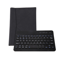 Black Bluetooth Wireless Keyboard PU Leather Case Cover For PC Android Windows 7 8 Ipad Mini