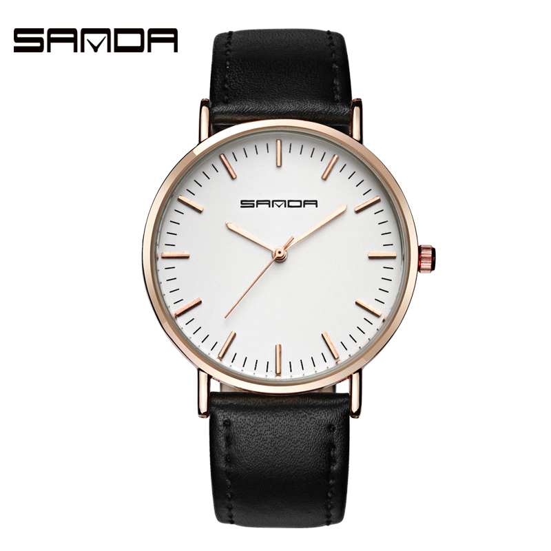 SANDA Casual Ladies Watches top brand luxury women fashion watch 2017 Lover's Female Clock Quartz wrist watches Relogio Feminino women watches women top famous brand luxury casual quartz watch female ladies watches women wristwatches relogio feminino
