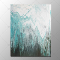 Hand Painted Abstract Oil Painting On Canvas Modern Abstract Green Black Picture Canvas Art For Living