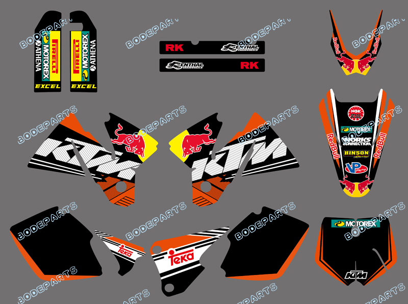 0609 Bull NEW TEAM GRAPHICS WITH MATCHING BACKGROUNDS FIT FOR KTM SX MXC 125/250/380 /400/520 1998 1999 2000  0322 star new team graphics with matching backgrounds fit for ktm sx sxf 125 150 200 250 350 450 500 2011 2012