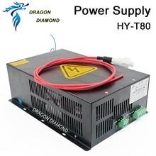 DRAGON DIAMOND 80 Вт СО2 лазерный источник питания для СО2 лазерной гравировки резки HY-T80 T/W Plus серии