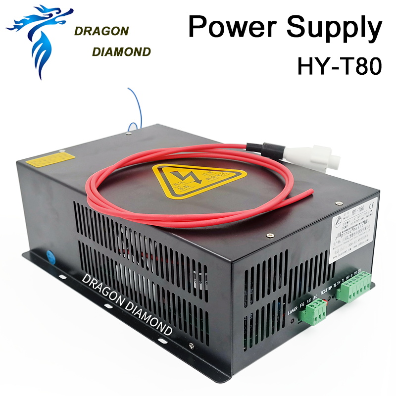 80W Laser Power Supply for laser tube CO2 Laser Power Supply for CO2 Laser Engraving Cutting Machine HY-T80 mean power 80w highest 100w laser tube length 1300mm 80w laser tube for arcylic laser engraving cutting machine