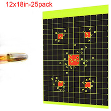 12x18in 25pack Sight In shooting Target stickers paintball slingshot hunting air rifle bb gun for shooter practice