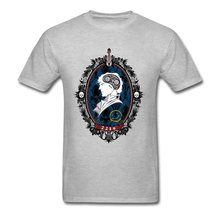 A Watchful Mind Tee 남성 그레이 T 셔츠 클래식 디자인 탑스 Sherlock Holmes T 셔츠 Vintage Portrait Clothing Cotton Tshirt