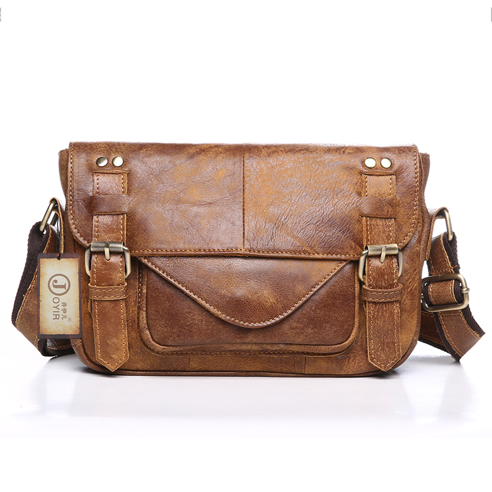 Vintage genuine leather shoulder bags for men in Men's Crossbody Bag Casual Business male Messenger Bags with free shipping free shipping dbaihuk golf clothing bags shoes bag double shoulder men s golf apparel bag