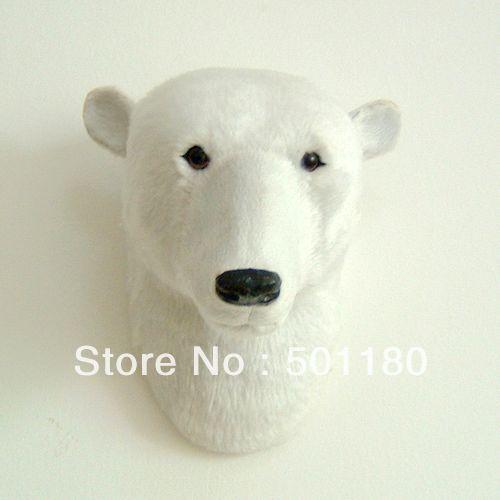 free shipping wall decoration hangings artificial polar bear head ...