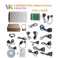 CARPROG Полный 8,21 онлайн авторизация версии с 21 Адаптеры для сим карт Airbag сброс инструмент включает Бесплатная Carprog 10,93 программного обеспечени