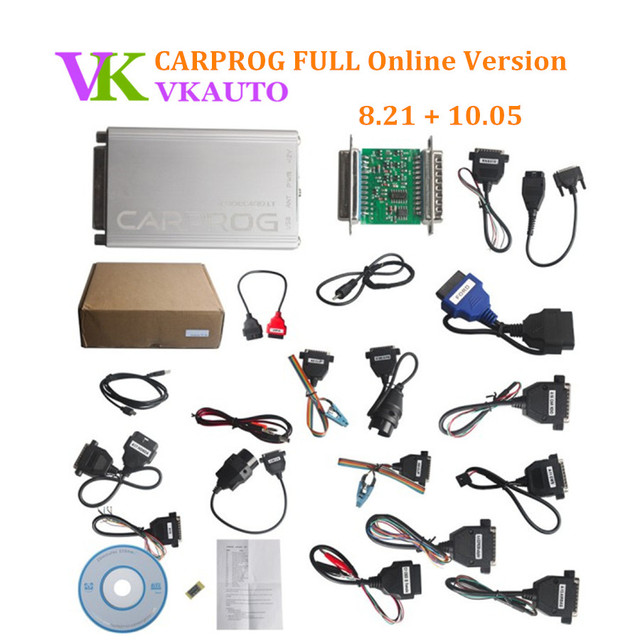 US $77 94 35% OFF|CARPROG FULL 8 21 Online Authorization Version with 21  Adapters Airbag Reset Tool Include Free Carprog 10 93 Software-in Engine