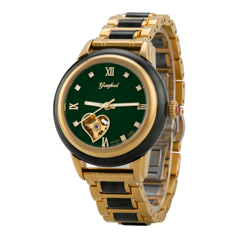 2019 Real Hetian Qingyu Watch A Fully Automatic Hollow-out Mechanical Waterproof For Chinese Jade Watches