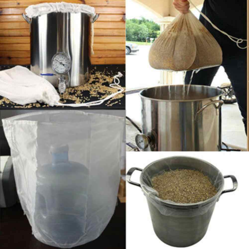 Reusable Food Fruit Filter Bag Nut Milk Bag Squeeze Juice Grid Mesh Filter Sieve Raw Soup Food Grade gootsteen zeef #10