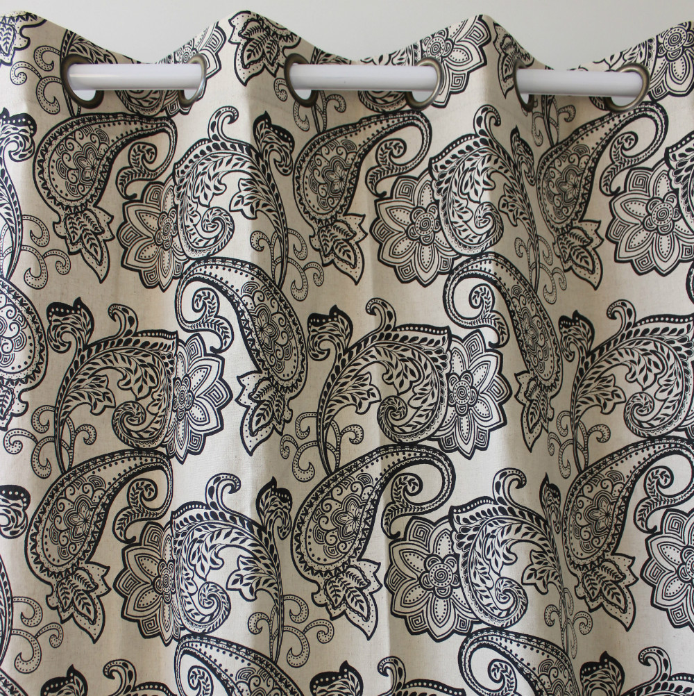 New Wholesale Paisley Linen Window Ready Finished Curtains Panel Door  Bedroom Living Room Home Decorate 51