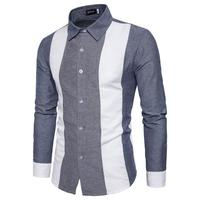 2018 Spring Autumn Features Large Size Shirts Men Casual Shirt New Arrival Long Sleeve Casual Slim
