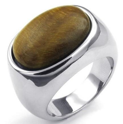 01c2c659907b Joyería de moda anillo de acero inoxidable para hombre clásico Ojo de Tigre  plata tamaño ee.uu. 7 a 13 envío de la gota en Anillos de Joyería y  accesorios ...