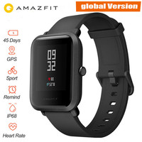 Global Version Xiaomi Huami Amazfit Bip Smart Watch Heart Rate Monitor GPS Gloness Smartwatch 45 Days Standby for Phone MI8 IOS