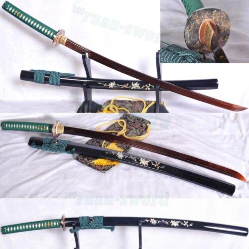 VYSOKÁ KVALITA VYROBENÁ JAPONSKO SAMURAI SWORD KATANA CLAY TEMPERED BLADE SHELL SAY