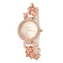 Mujeres se Visten de Reloj Relojes de oro Las Mujeres de Oro WatchesTop Marca de Lujo Con Malla Banda reloj mujer del relogio feminino dourado