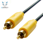 EGRINCY Coaxial Audio Video Cable Stereo Audio Cable Gold Plated RCA To RCA Video Cable 75ohm For TV Amplifier Home Speaker HiFi