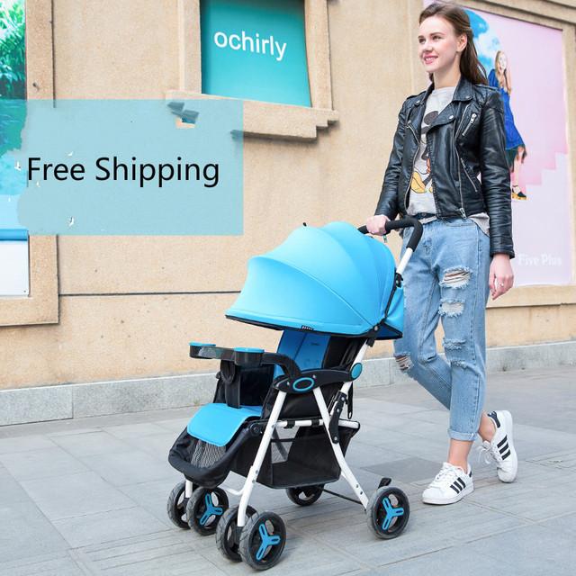 Leve e portátil guarda-chuva carro luz carrinho de bebê dobrável carrinho de criança pode sentar pode mentir pouco carrinho de bebê