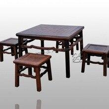Мебель для дома открытый сад Досуг чайный стол 5 шт. набор столик для еды и маленьких табуретов гостиная Классическая палисандр антикварная
