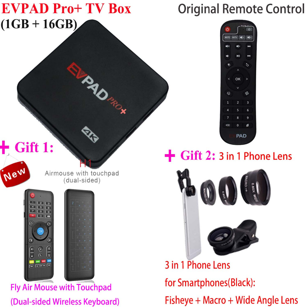 2018 Hot Sell New EVPAD 2S+ Pro+ Korean Japan EVPAD PRO+ IPTV Chinese HongKong Malaysia Taiwan US Android TV Box Streaming Box