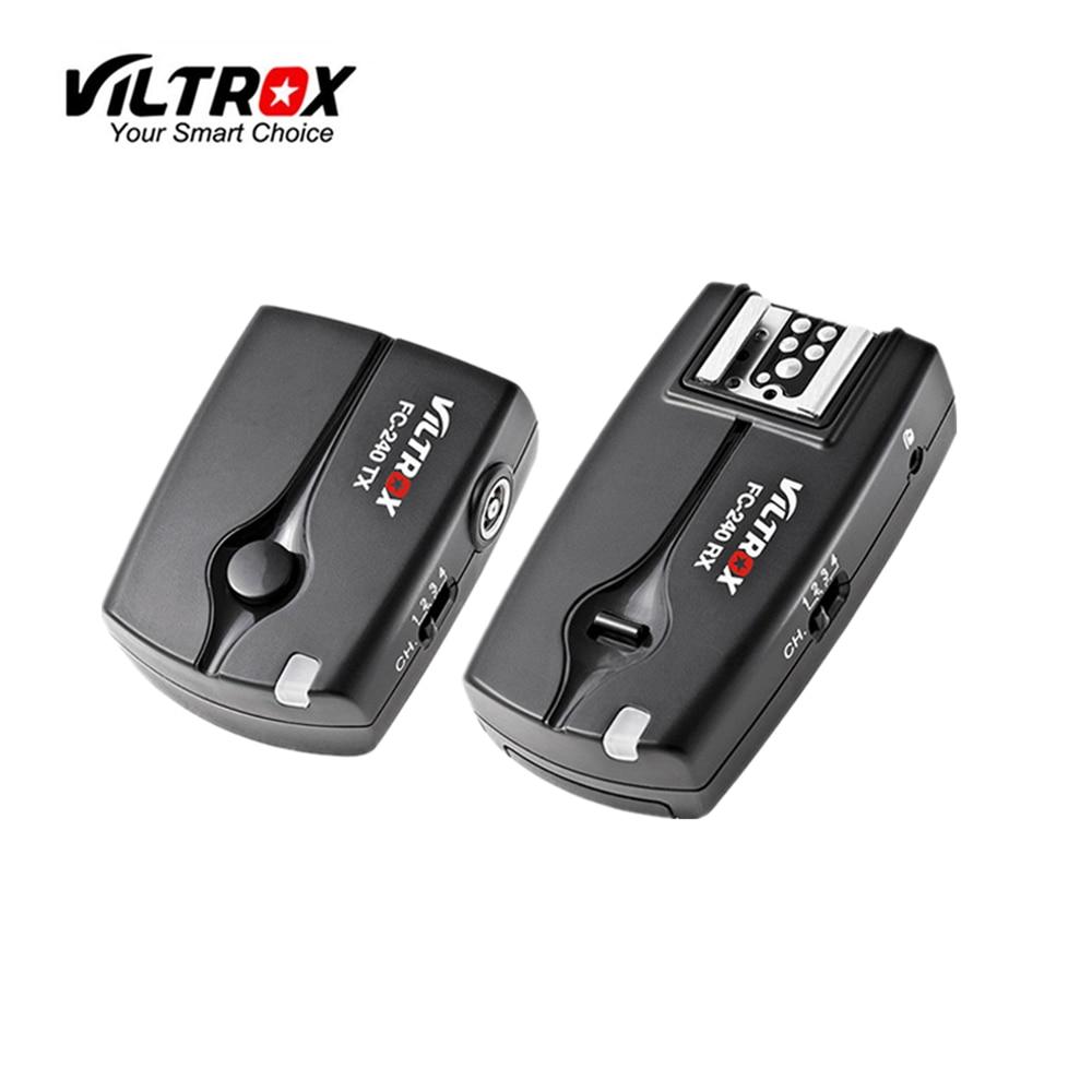 Беспроводной студийный стробоскоп Viltrox FC-240, пульт дистанционного управления для камеры + 2 приемника для Nikon D3200 D3100 D5600 D5500 D7200 D90 D750